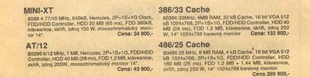 Cennik PC 1990