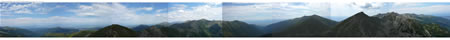 360 Stupňová panoráma z Ostrého Roháča